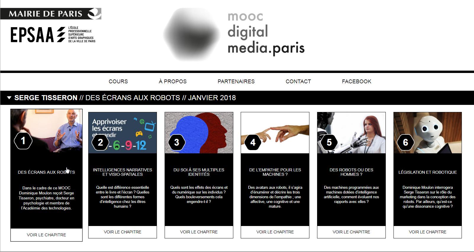 Serge Tisseron – MOOC «Des écrans aux robots»